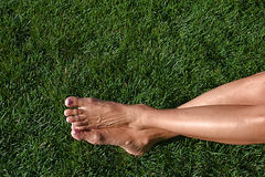 Barefoot in the Grass Stock Photos