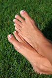 Barefoot in the Grass Royalty Free Stock Images