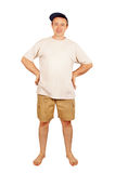 Barefoot happy man on vacation Stock Image