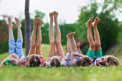 Barefoot kids Stock Image