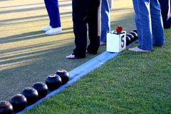 Barefoot Lawn Bowls Royalty Free Stock Photos