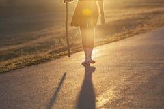 Barefoot Legs on Pilgrimage stock photography