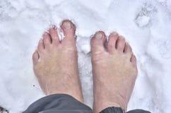 Barefoot man Stock Photos