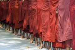 Barefoot monks Royalty Free Stock Images