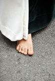 Barefoot Nazarene, Holy Week in Seville, Andalusia, Spain Stock Photo