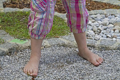 In barefoot obstacle course Royalty Free Stock Images