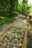 Barefoot path stock image