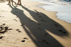 Barefoot people Stock Photography