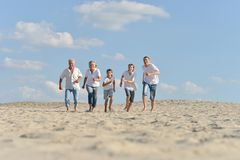Barefoot in the sand Royalty Free Stock Images