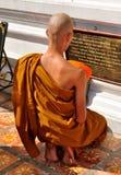Chiang Mai, Thailand: Monk at Prayer Stock Image