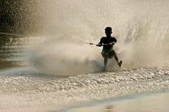 Barefoot skier Stock Image