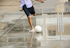 Barefoot soccer Royalty Free Stock Photo