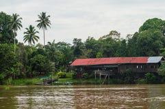 Barefoot Sukau Lodge on the Kinabatangan river, Sabah, Borneo. M. Alaysia royalty free stock photo
