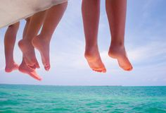 Barefoot summer Stock Image