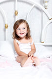 Barefoot toddler girl Royalty Free Stock Photo