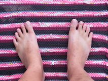 Barefoot Top View. No Shoe. Left and Right Side. Thai Chinese Ma. Barefoot Top View. No Shoe. Left and Right Side. a Thai Chinese Man from Thailand Stock Images