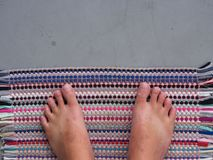 Barefoot Top View. No Shoe. Left and Right Side. Thai Chinese Ma. Barefoot Top View. No Shoe. Left and Right Side. a Thai Chinese Man from Thailand Royalty Free Stock Image