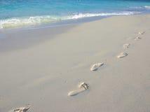 Barefoot trekking Stock Image