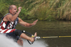 Barefoot Water Skier 04 royalty free stock photos