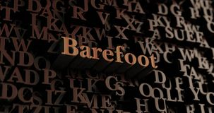 Barefoot - Wooden 3D rendered letters/message Royalty Free Stock Photo