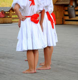 Barefooted slovac dancer Stock Images