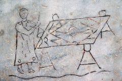 Barelief handlarz w rynku w skąpaniach Diocletian w Rzym obrazy royalty free