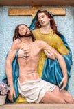 Barelief kolory reprezentuje politowanie Michelangelo fotografia royalty free