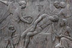 Barelief przedstawia śmierć obrazy stock
