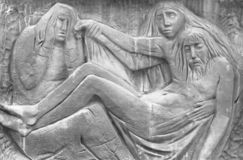 Barelief reprezentuje politowanie Michelangelo zdjęcie stock