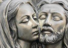 Barelief w brązie reprezentuje politowanie Michelangelo obraz royalty free