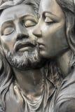 Barelief w brązie reprezentuje politowanie Michelangelo obrazy royalty free