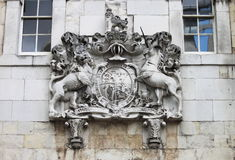 Barelief w wierza Londyn Fotografia Royalty Free