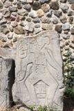 Bareliefu cyzelowanie anatomiczny wizerunek mężczyzna, Meksyk Fotografia Royalty Free