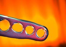 Barella del dito del piede del piede di yoga Fotografia Stock