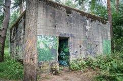 ` Barenholle ` бункера ` s Гитлера нацистское около Смоленска России стоковая фотография