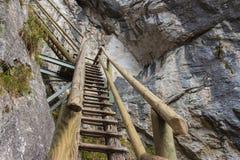 Barenschutzklamm. Gorge near Mixnitz in Austria Royalty Free Stock Images