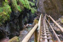 Barenschutzklamm. Gorge near Mixnitz in Austria Royalty Free Stock Image