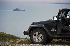 Barents morze, Murmansk region, Rosja Obraz Stock