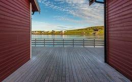 Barents morze w Finnmark, Norwegia obraz stock