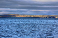 The Barents sea and coast of Vaygach island Royalty Free Stock Images