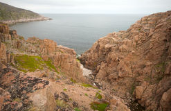 Barents Sea view from rocks summer Royalty Free Stock Photos