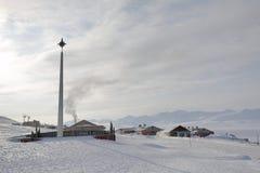 Barentsburg - Arctic Russian city in Svalbard Stock Image