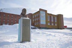 Barentsburg - cidade ártica do russo - Lenin Foto de Stock
