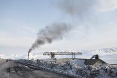 Barentsburg - cidade do russo no ártico Foto de Stock