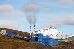 Barentsburg - coal mining village in Svalbard Stock Photography
