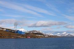 Barentsburg - coal mining village in Svalbard Royalty Free Stock Images