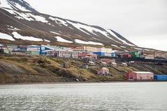 Barentsburg, règlement russe dans le Svalbard, Norvège Images stock