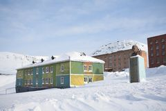Barentsburg - Russian city in the Arctic Royalty Free Stock Photography