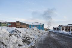 Barentsburg - Russian city in the Arctic Royalty Free Stock Image