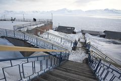 Barentsburg - Russian city in the Arctic Royalty Free Stock Photo